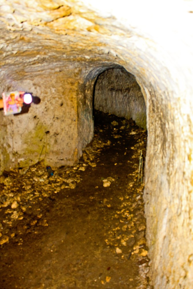 Bagian dalam gua. Jangan lupa ya kalau wisata gua, dimana pun, kapan pun, bawalah senter seterang matahari!:)