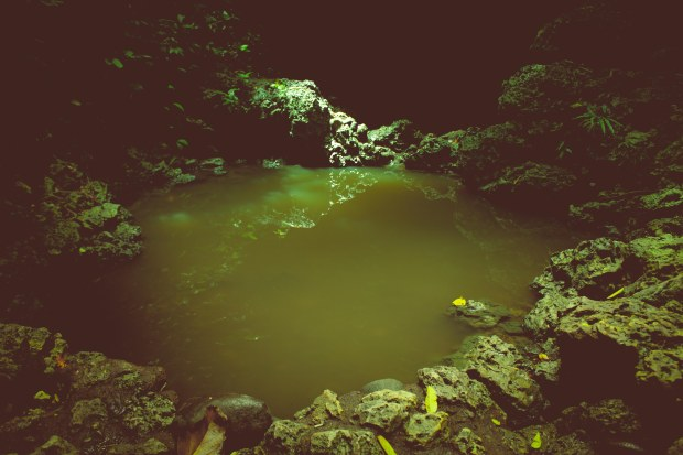 Ini kolam buat mandinya. Di sini banyak gadis mandi lho pada malam-malam tertentu. Ngintip yuuukk!