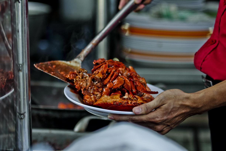 Kepiting siap disajikan.