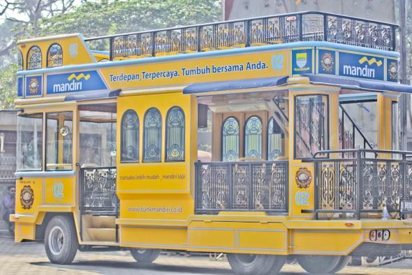 Bis Wisata Sumbangan Bank Mandiri untuk kota Bandung.