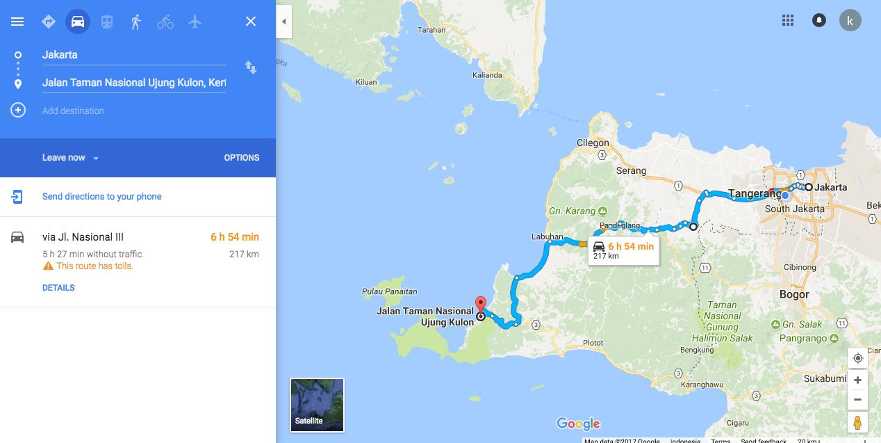 Jakarta - Ujung Kulon