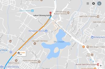 Ini rute kalau dari Bogor melalui Jalan Raya Bogor.