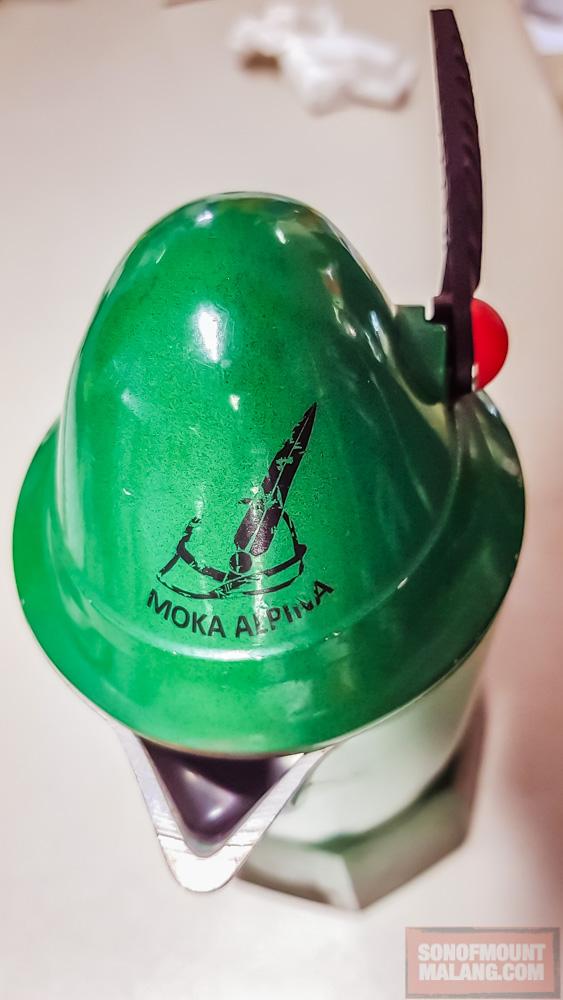Bialetti Break Alpina 3 Cups tertunduk lelah habis dipakai habis-habisan.