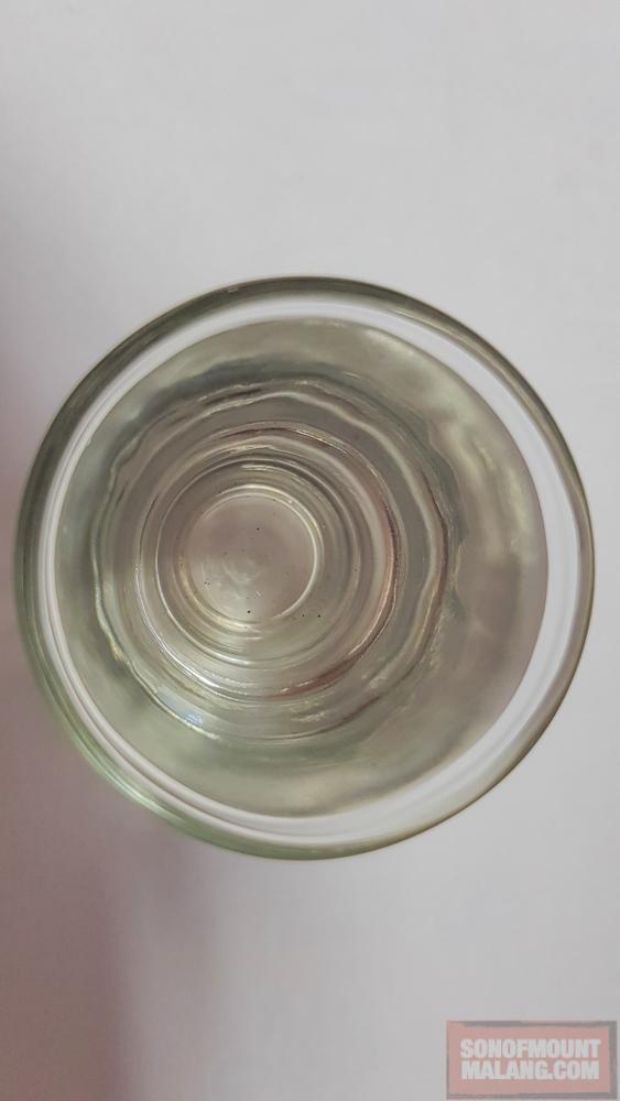 Rebusan ketiga sebagai tanda bahwa di dalam funnel dan tunnel mokapot tidak ada lagi residu tersisa.
