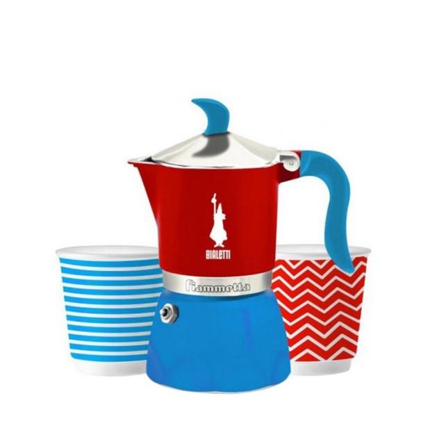 1.Bialetti - Fiammetta Set Pop Blue_Red (3 Cups)