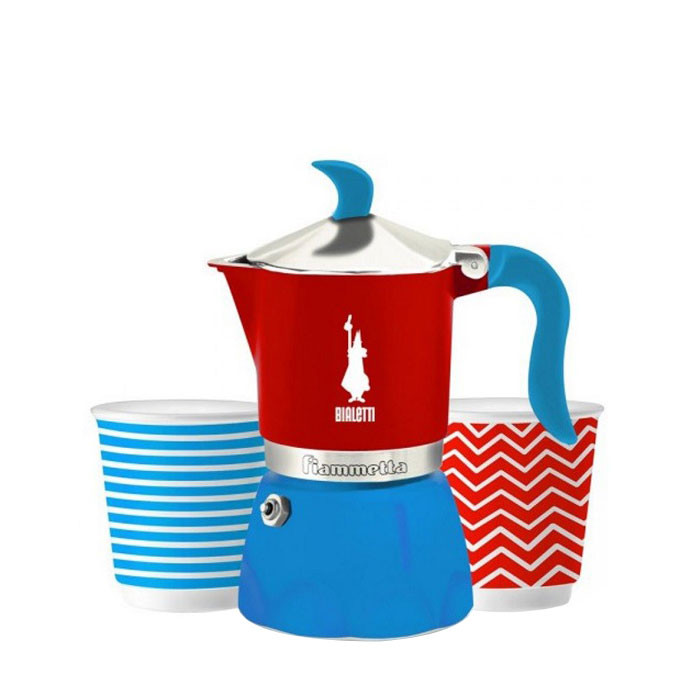 1.Bialetti - Fiammetta Set Pop Blue_Red (3 Cups)